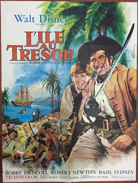 Disney - French movie poster - L'île au Trésor / Treasure Island (1970)