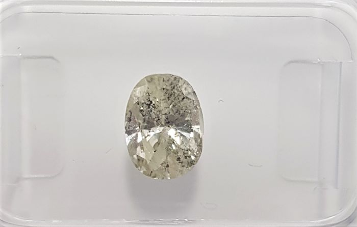 1.24 Natural Oval Cut Diamond I (Nuance of Green) SI2 - No Reserve!
