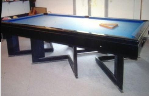 Heated American billiard pool table - Breton