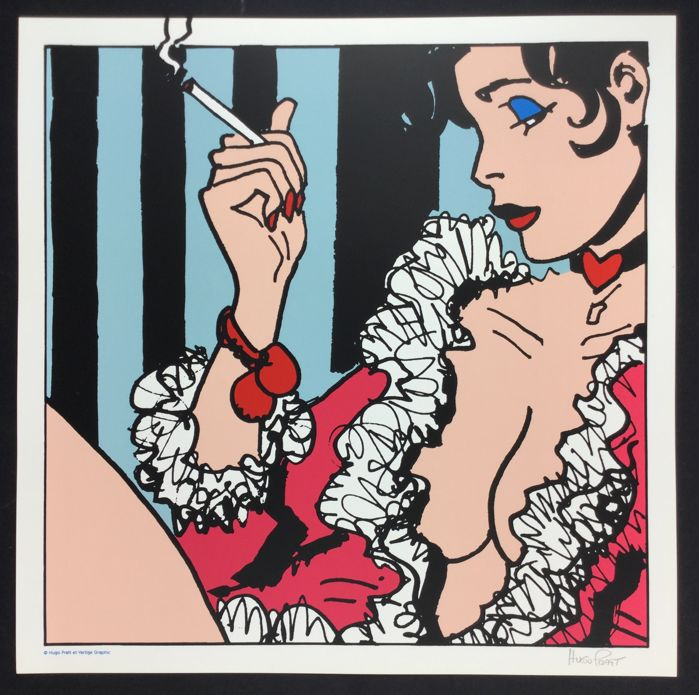 "Pratt, Hugo - silk screen print ""Esmeralda"" (1990)"