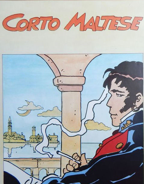 Corto Maltese - affiche signé - Loose Page - First Edition