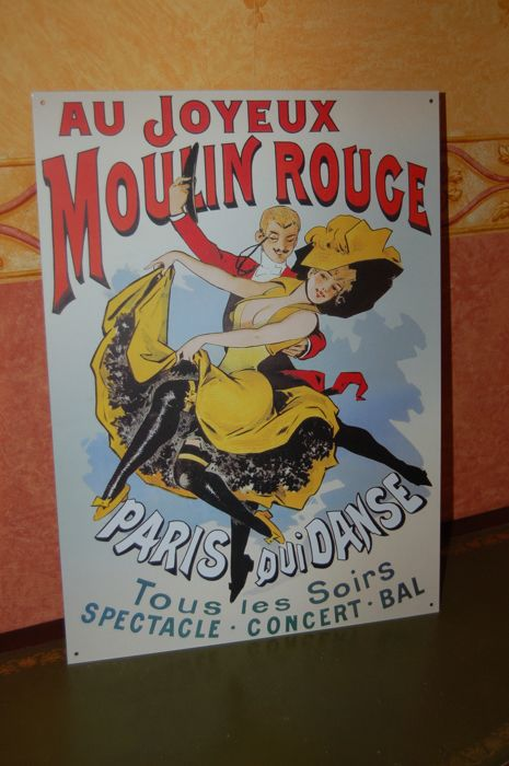 Emaille reclamebord MOULIN ROUGE