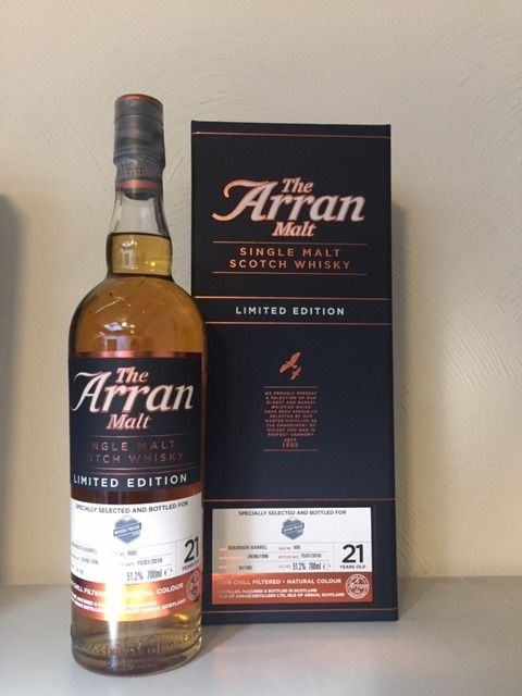 Arran 21 years old for Whiskybase