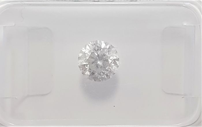 0.67ct Natural Round Brilliant Cut Diamond F SI3 - No Reserve!