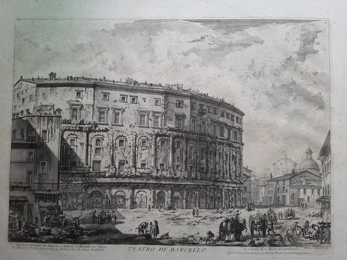 Giovanni Battista  Piranesi - Teatro di Marcello.