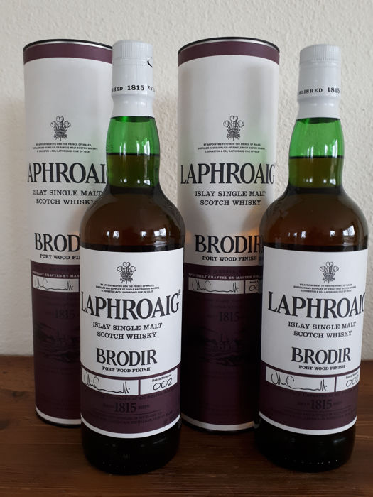 2 bottles - Laphroaig Brodir Port Wood Finish