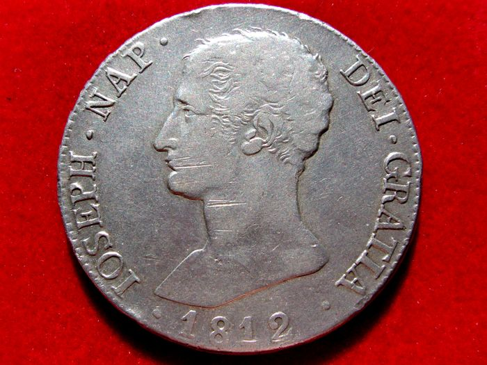 Spain - Jose Napoleon (1808-1813) 20 silver Reales (26.35 g 39 mm.), Madrid 1812 Assayer: A I Very rare