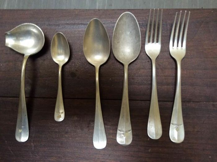 militaria - ww2 - German army - lot of 6 cutlery with swastika