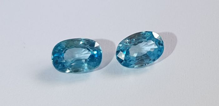 Blue Zircon - 1.85 ct - No reserve price
