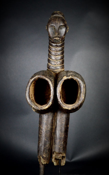 Rare African Tribal FANG Bieri Blacksmith Bellow. Gabon.