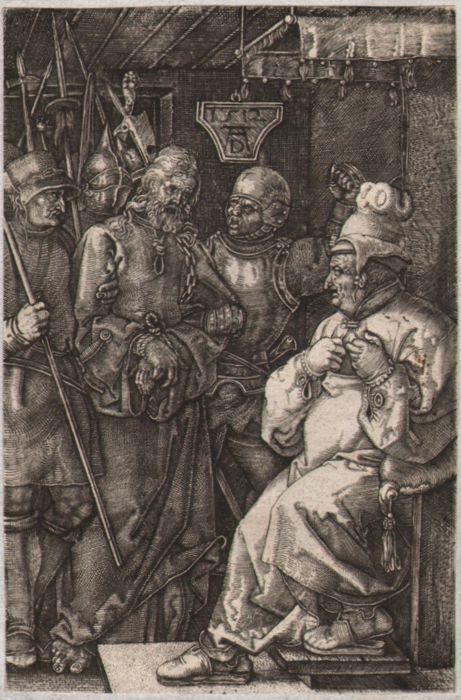 Albrecht Dürer ( 1471-1528 ) - Christ before Caiaphas