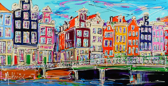 Mathias - Canal of Amsterdam, typical houses