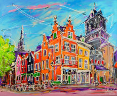Mathias - Street of Delft, two towers