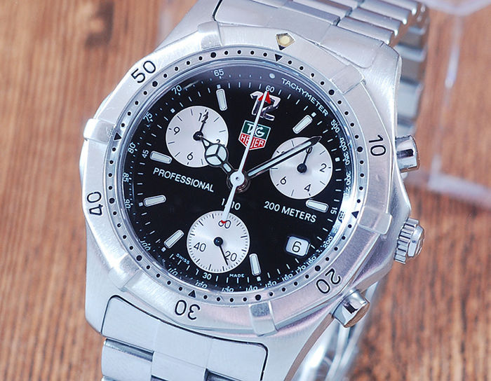 TAG Heuer - Professional 200 m Chronograph - CK1110-0 - Men - 1990-1999