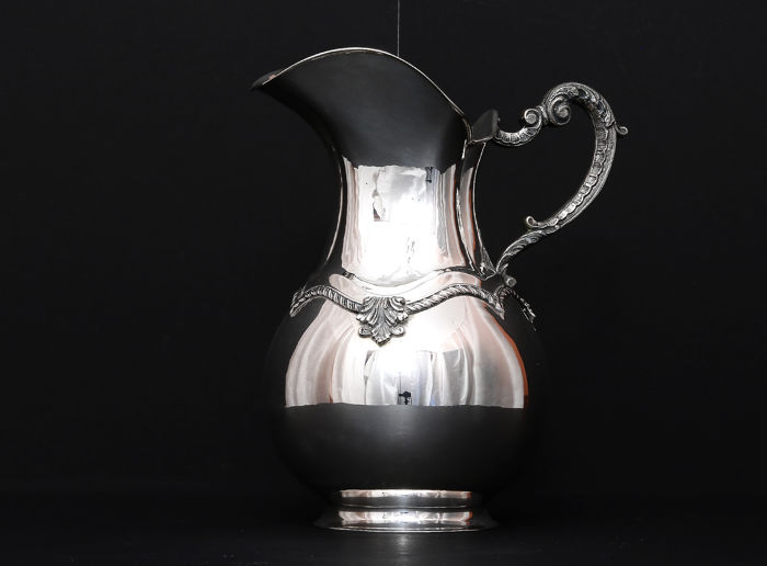 Sterling silver Water Pitcher, Bicama, Italy, 20th c.