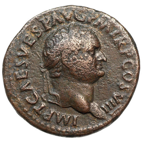 Roman Empire – TITUS (79-81) AE As, Rome, VICTORIA