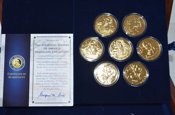"United States - various medals ""Founding Fathers of ..."