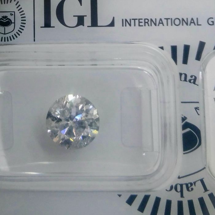2.19 Carat E I1 Round Brilliant Natural Diamond Certified & Sealed - Very low Reserve !