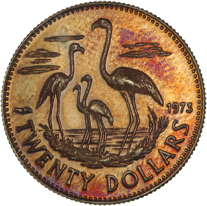Bahamas - 20 Dollars 1973 'Independence' - gold