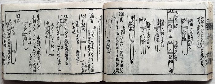 Japanese Katana's; Banpo Zensho. Encyclopedia of Art - Volume 10 - 1770