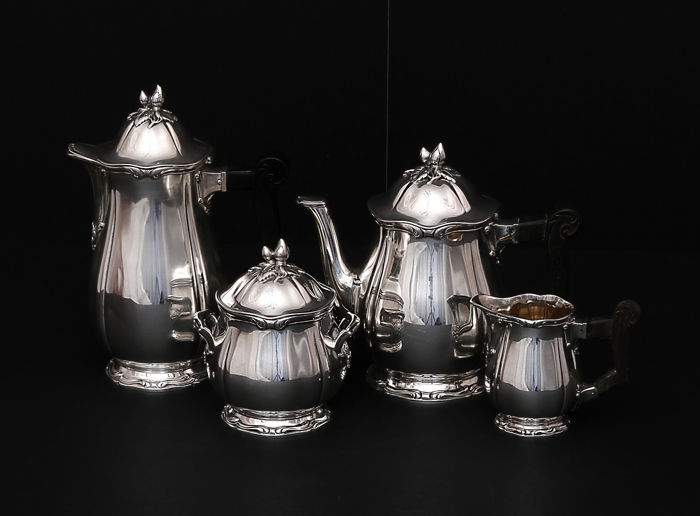 4 piece service coffee -tea,   -Louis Coignet   -Paris,   -1889-1893