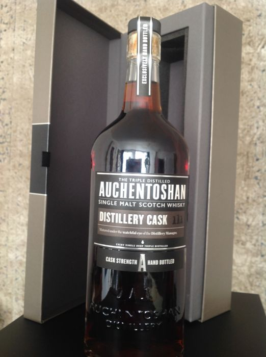 Auchentoshan Distillery Cask Bottling, cask strength.