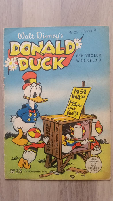 Donald Duck Weekblad - nr 5 - sc - 1e druk (1952)