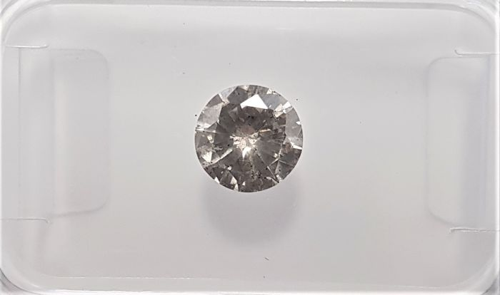 0.56ct Natural Round Brilliant Cut Diamond Fancy Brown SI3 - No Reserve!