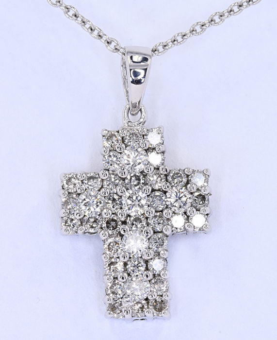 Diamond cross necklace ***NO RESERVE price!***