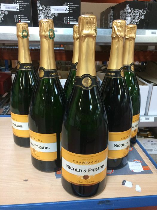 Nicolo & Paradis Brut Tradition Champagne - 6 magnums (150cl)