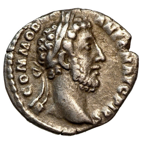 Roman Empire – COMMODUS (177-192) AR Denarius, Rome, MINERVA