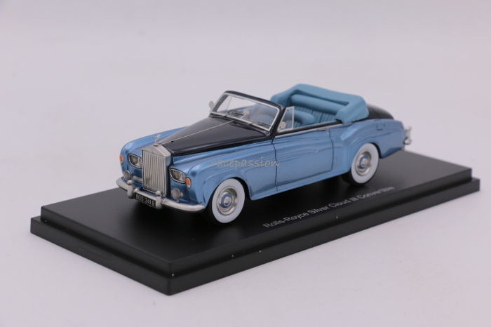 Bos Models - Schaal 1/43 - Rolls Royce - Silver Cloud III - Convertible - Color: Blue Metallic / Darkblue
