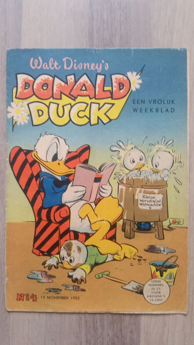 Donald Duck Weekblad - nr 4 - sc - 1e druk (1952)