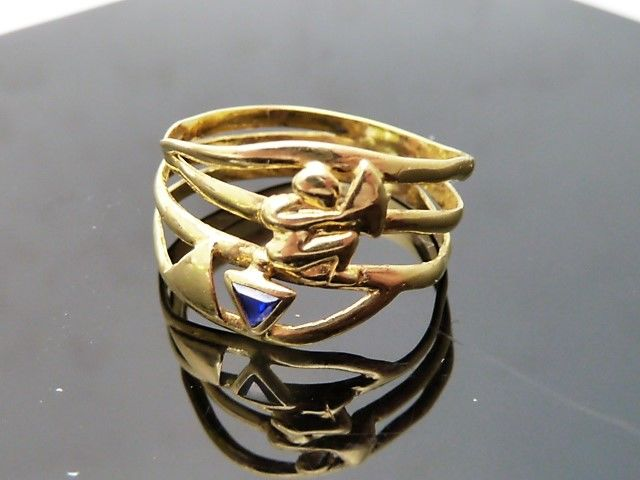 18 kt yellow gold ring - **No Reserve Price**