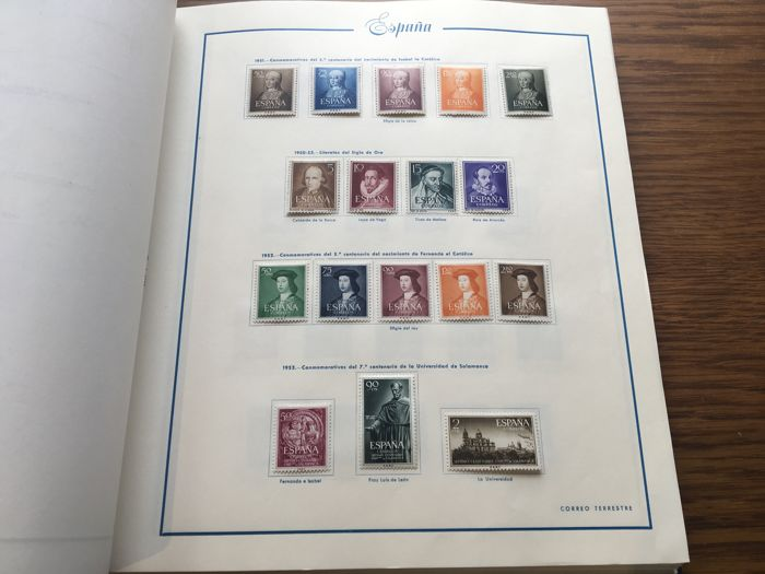 Spain 1950/1959 - Collection in Majó brand album