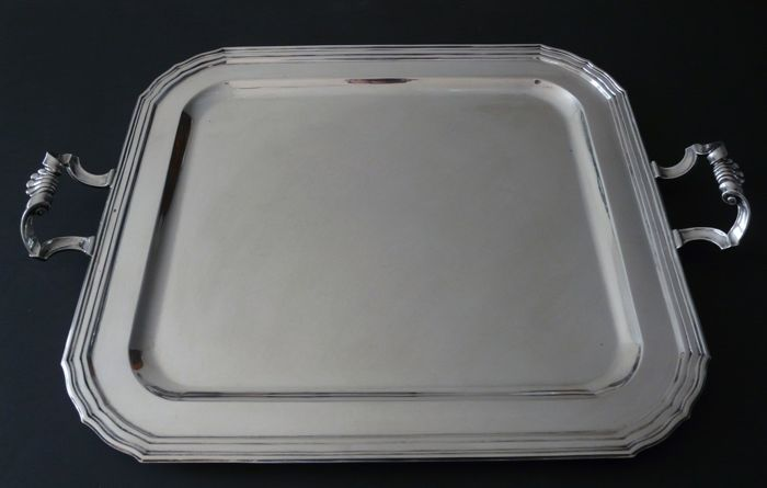 Wolfers Sterling silver tray