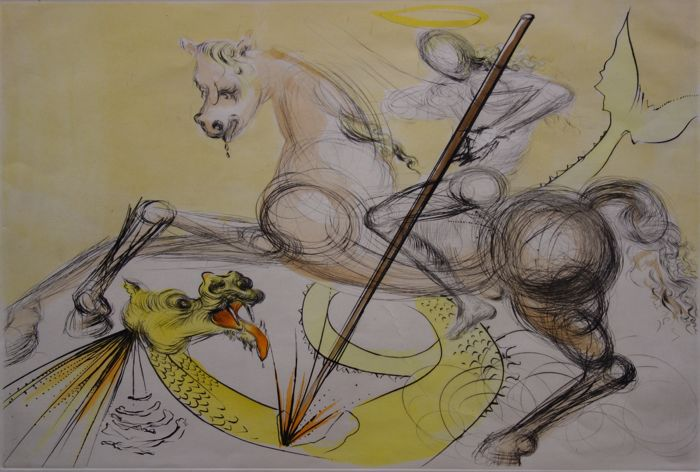 Salvador Dali  - Saint Georges et le dragon