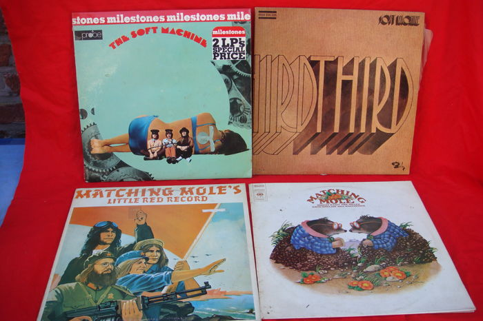 Two double LP's Soft Machine & Two LP's Matching Mole - first press (6 LP's)