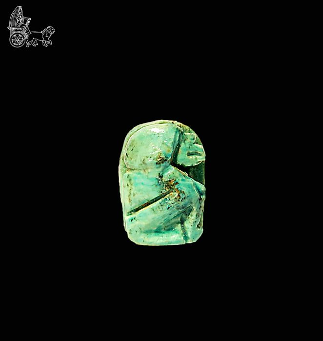 Thoth amulet in the form of a baboon, Late period - 1.5 cm