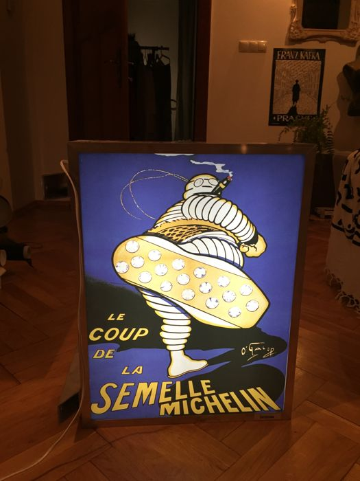 MICHELIN lightbox - Vintage Illuminated advertising sign - Garage lamp - XXL dealer sign