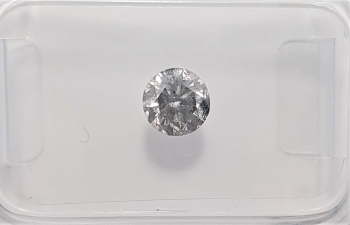 0.61ct Natural Round Brilliant Cut Diamond F SI3 - No Reserve!