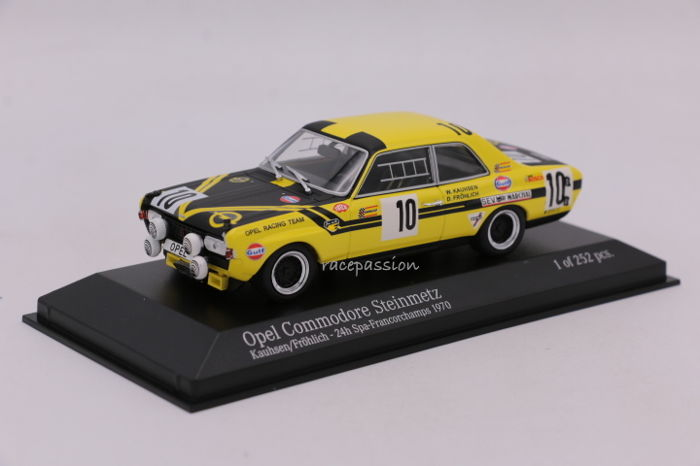 Minichamps - Schaal 1/43 - Opel Commodore Steinmetz - 24H Spa - 1970 - Limited Edition