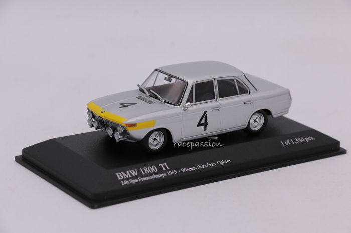 Minichamps - Schaal 1/43 - BMW 1800 TI - Winners 24H Spa - 1965 - Limited Edition