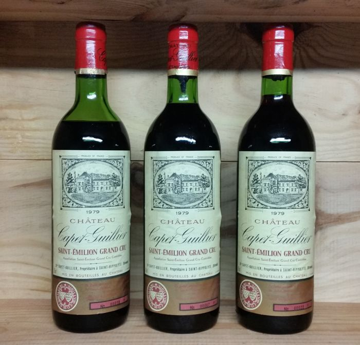 1979 Chateau Capet-Guillier Saint-Emilion-Grand Cru 3 bottles