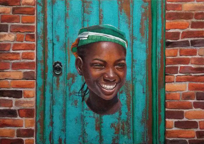 Laurent Chimento - Africaine, Street Art