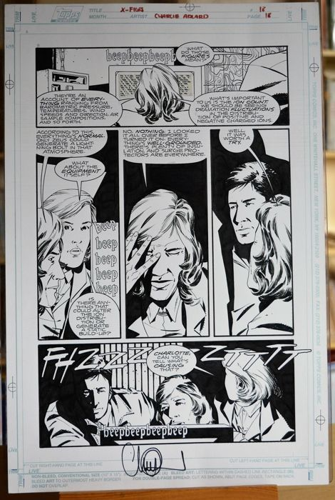 Original plate by Charlie Adlard: X-Files issue 18 page 18