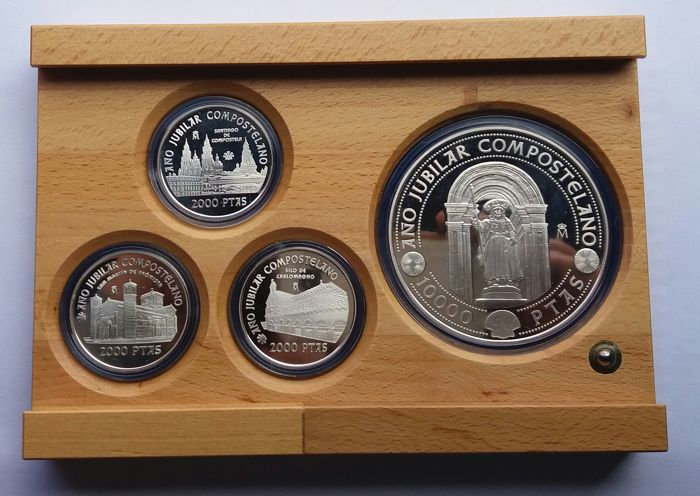 Spain - 1999 Holy Compostelan year complete set - Silver