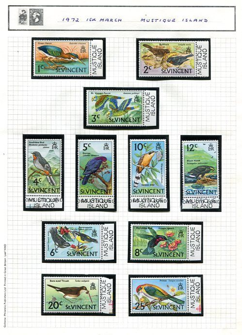 Grenadines of St. Vincent 1972/82 - collection on 102 leaves with some Outer Island issues.