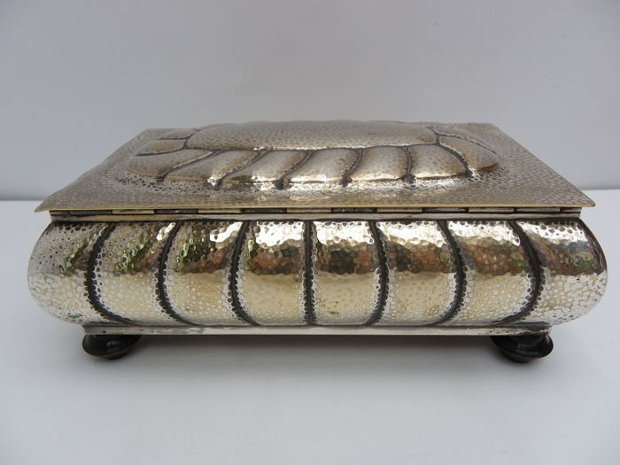 WMF - Large Arts & Crafts silver plate musical box