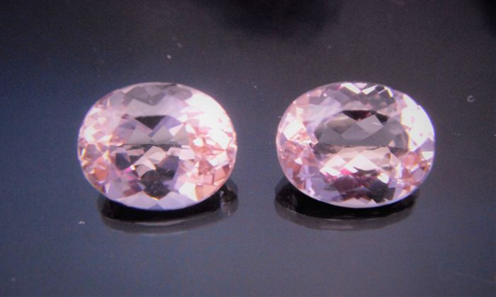 Morganite Pair - 4.99 ct Total